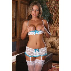 Exposed - Luv Lace - Bra, Garter Skirt & G-String - S/M 2 Product Image
