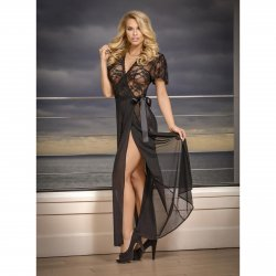 Exposed - Black Widow - Robe & G-Set - Queen Size 1 Product Image