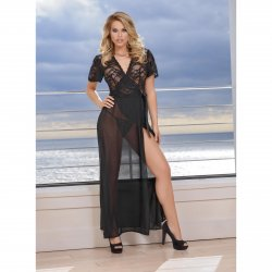 Exposed - Black Widow - Robe & G-Set - Queen Size 2 Product Image