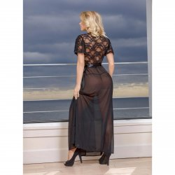 Exposed - Black Widow - Robe & G-Set - Queen Size 3 Product Image
