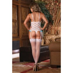 Exposed - Luv Lace - Cupless & Crotchless Teddy - L/X 3 Product Image