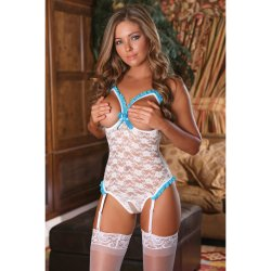 Exposed - Luv Lace - Cupless & Crotchless Teddy - S/M 2 Product Image