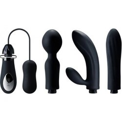 DORR Mystic Changeable Head Vibe Set - Black - Set of 4 1 Product Image