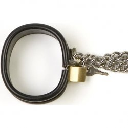 Rapture: Steel Band Ankle Cuff Shackles - Large 4 Product Image