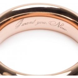 Fifty Shades Freed: I Want You. Now. Steel Love Ring 3 Product Image