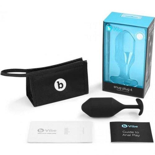 B-Vibe Snug Plug 4 - Black 1 Product Image