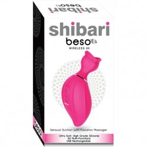 Shibari Beso Clitoral Suction Vibrator - Pink 3 Product Image