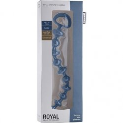 "Shots Toys: Mjuze Silicone 11"" Royal Chain Anal Beads - Blue 3 Product Image"