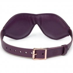 Fifty Shades Freed: Cherished Collection Leather Blindfold - Purple 2 Product Image