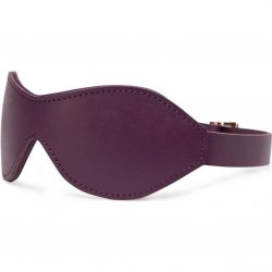 Fifty Shades Freed: Cherished Collection Leather Blindfold - Purple 3 Product Image