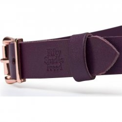 Fifty Shades Freed: Cherished Collection Leather Blindfold - Purple 4 Product Image