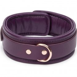 Fifty Shades Freed: Cherished Collection Leather Collar - Purple & Gold 3 Product Image
