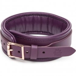 Fifty Shades Freed: Cherished Collection Leather Collar - Purple & Gold 4 Product Image