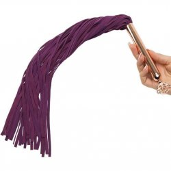 Fifty Shades Freed: Cherished Collection Suede Flogger With Purple and Gold Handle 6 Product Image