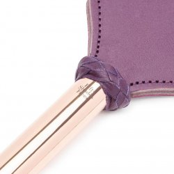 Fifty Shades Freed: Cherished Collection Leather & Suede Paddle With Gold and Purple Handle 4 Product Image