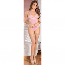 Exposed - Teddy w/ Snap Crotch - Pink - L/X 1 Product Image
