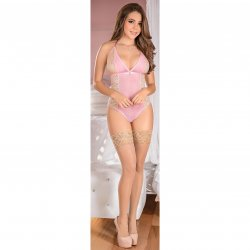 Exposed - Teddy w/ Snap Crotch - Pink - Queen 1 Product Image