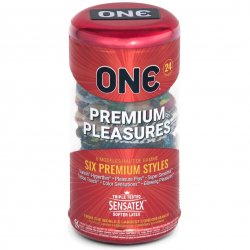One: Premium Pleasures Condoms - 24-Pack Product Image