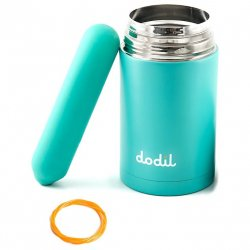 DoDil Shape Your Own Dildo with Thermos Canister - Turquoise Product Image