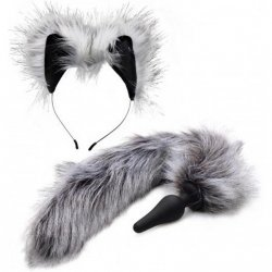 Grey Wolf Tail Anal Plug and Ears Set Product Image