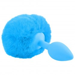 Neon Luv Touch Bunny Tail - Blue 2 Product Image