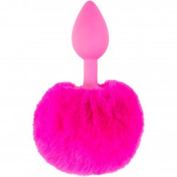 Neon Luv Touch Bunny Tail - Pink Product Image
