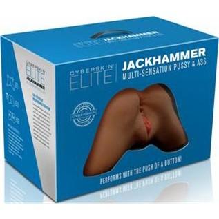 CyberSkin Elite Jackhammer Multi-Sensation Pussy & Ass - Dark 5 Product Image