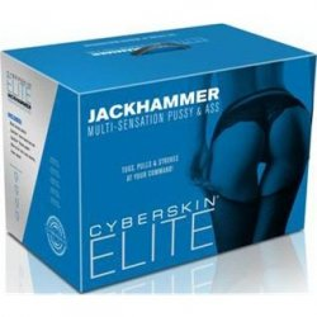 CyberSkin Elite Jackhammer Multi-Sensation Pussy & Ass - Dark 6 Product Image