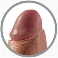 "King Cock 7"" Uncut Cock - Tan 2 Product Image"