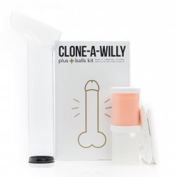 Clone-A-Willy + Balls Vibrator Kit - Light Tone Product Image