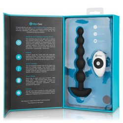 B-Vibe Cinco Remote Control Rechargeable Beads - Black 14 Product Image