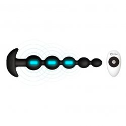 B-Vibe Cinco Remote Control Rechargeable Beads - Black 3 Product Image
