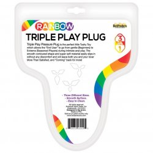 Rainbow Triple Play Butt Plug 5 Product Image
