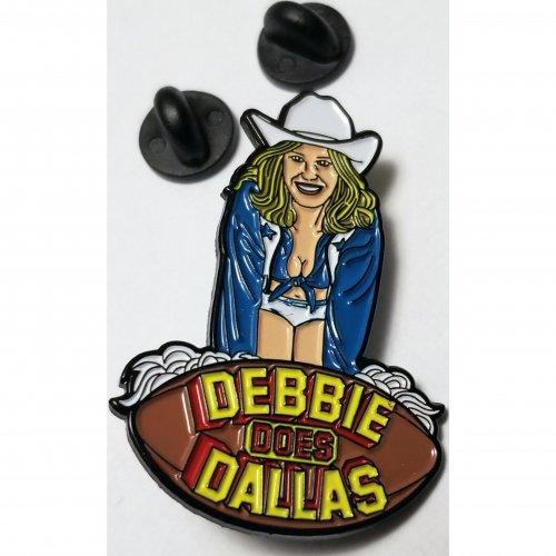 Wood Rocket Debbie Does Dallas Soft Enamel Pin 1 Product Image
