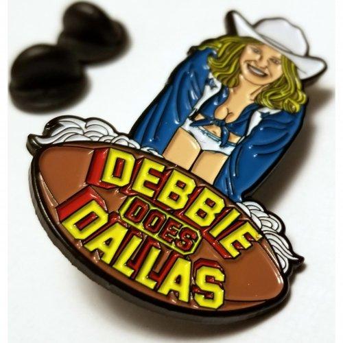 Wood Rocket Debbie Does Dallas Soft Enamel Pin 2 Product Image
