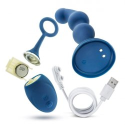 Performance Plus Cannon Rechargeable Anal Plug - Blue 5 Product Image