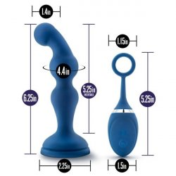 Performance Plus Cannon Rechargeable Anal Plug - Blue 6 Product Image