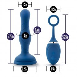 Performance Plus Dynamo Rechargeable Anal Plug - Blue 5 Product Image