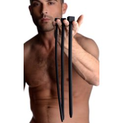 Bolted Deluxe Silicone Urethral Sounds - Black 5 Product Image