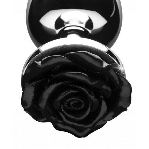 Black Rose Anal Plug - Medium 2 Product Image