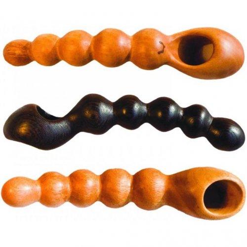 NobEssence: Linger Hard Wood Anal Beads 1 Product Image