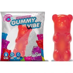 Rock Candy - Gummy Bear 5-function Mini Vibe - Cinnamon Red Product Image