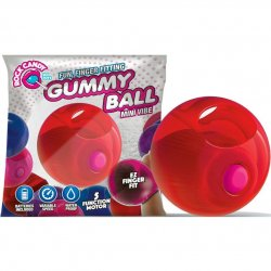 Rock Candy - Gummy Ball 5-function Mini Finger Vibe - Cinnamon Red 1 Product Image