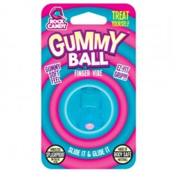 Rock Candy - Gummy Ball 5-function Mini Finger Vibe - Blueberry Blue 2 Product Image