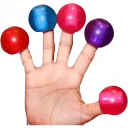 Rock Candy - Gummy Ball 5-function Mini Finger Vibe - Blueberry Blue 3 Product Image