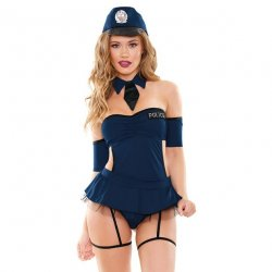 Miss Demeanor Police Costume 4 Piece Set - 1XL/2XL 1 Product Image