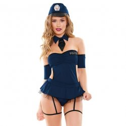 Miss Demeanor Police Costume 4 Piece Set - M/L 1 Product Image
