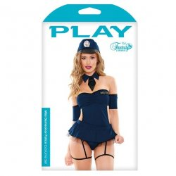 Miss Demeanor Police Costume 4 Piece Set - M/L 3 Product Image