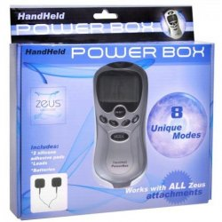 Zeus Electrosex Handheld 8 Mode Power Box with Black Pads 4 Product Image