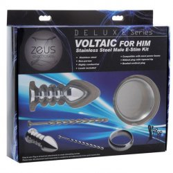 Zeus Deluxe Series Voltaic For Him Stainless Steel Male E-stim Kit 5 Product Image